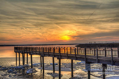 Photograph - Sunset At The Pier by Jim Lepard