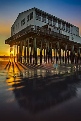 Sunset At The Pier Art Print by Susan Candelario