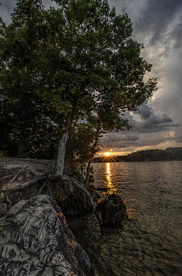 Photograph - Sunset At The Point by Barry Cole
