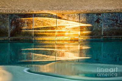 Digital Art - Sunset At The Pool by Georgianne Giese