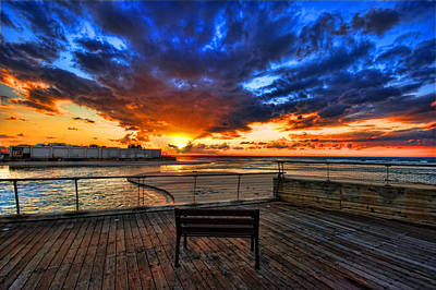 Photograph - sunset at the port of Tel Aviv by Ron Shoshani