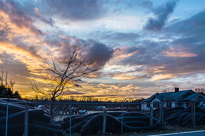 Photograph - Sunset At The Scrap Pile by Randy Scherkenbach
