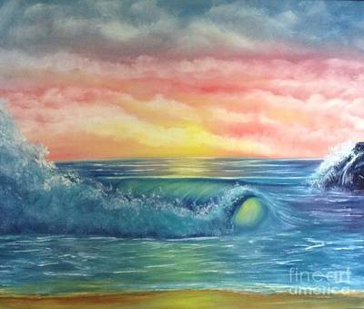 Painting - Sunset At The Seashore  by Becky Lupe