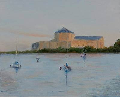 Painting - Sunset At The Shedd by Will Germino
