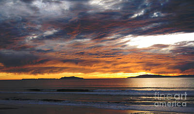 Art Print featuring the photograph Sunset At The Shores by Janice Westerberg