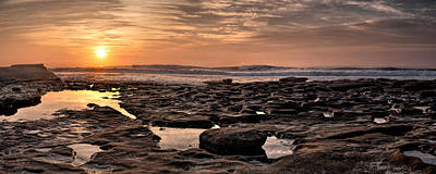 Bath Time - Sunset at the Tidepools I by Peter Tellone