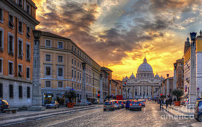 Photograph - Sunset At The Vatican by Yhun Suarez