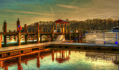 Photograph - Sunset At The Wacca Wachee Marina by Kathy Baccari