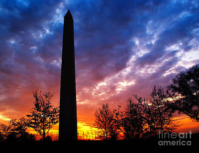 Photograph - Sunset At The Washington Monument by Nick Zelinsky