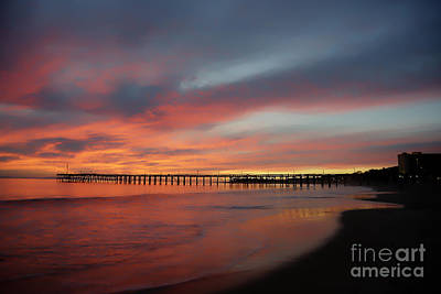 Little Mosters - Sunset at Ventura Pier  by Dan Friend