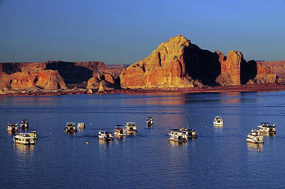 Wahweap Photograph - Sunset At Wahweap Marina, Glen Canyon by Michel Hersen