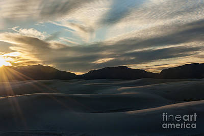 Photograph - Sunset At White Sands by Sandra Bronstein