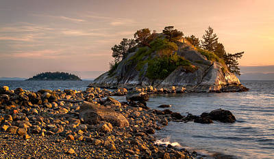 British Columbia Photograph - Sunset At Whyte Islet by Alexis Birkill