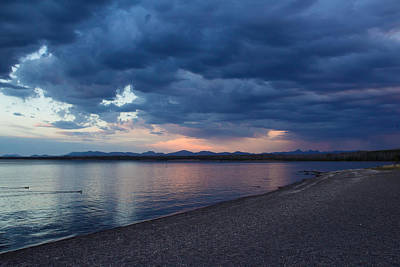 Sunset At Yellowstone Lake - Yellowstone National Park - Wyoming Original by Diane Mintle
