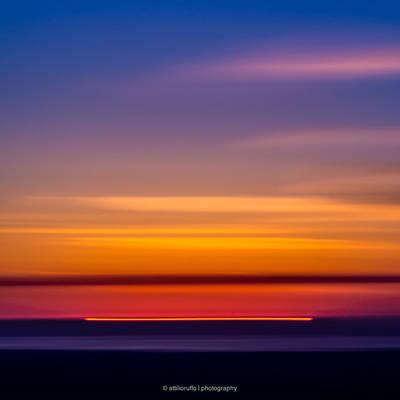 Sunset. Original by Attilio Ruffo