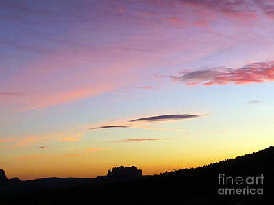 Photograph - Sunset Autumn Sedona by Marlene Rose Besso
