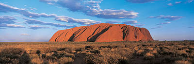 Uluru Photograph - Sunset Ayers Rock Uluru-kata Tjuta by Panoramic Images