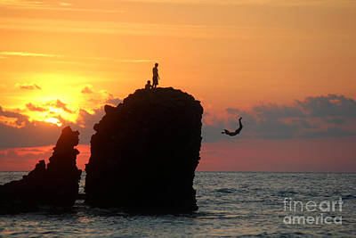 Backflip Photograph - Sunset Backflip #2 by Stav Stavit Zagron