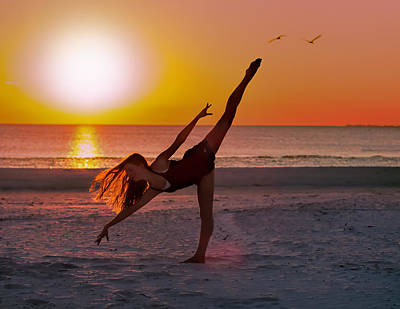Dancing On The Beach Photograph - Sunset Ballet by Delores Knowles