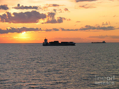 Art Print featuring the photograph Sunset Baltic Sea by Art Photography