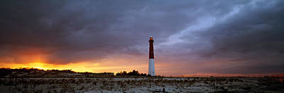 Nj Photograph - Sunset, Barnegat Lighthouse State Park by Panoramic Images