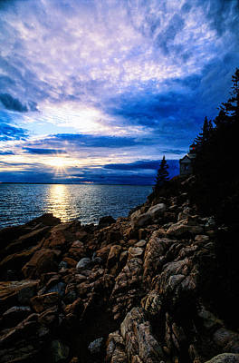 Sunset Bass Harbor Art Print