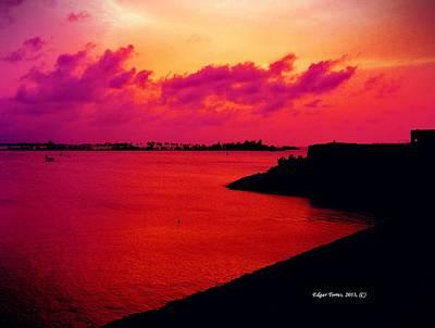Sunset Bay Art Print by Edgar Torres