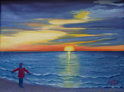 Painting - Sunset Bay by Kathern Welsh
