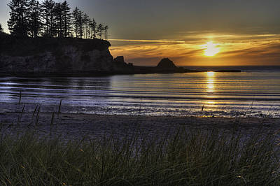 Sunset Bay Paradise Art Print by Mark Kiver