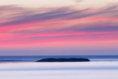 Surreal Landscape Photograph - Sunset Bay Pastels II by Mark Kiver