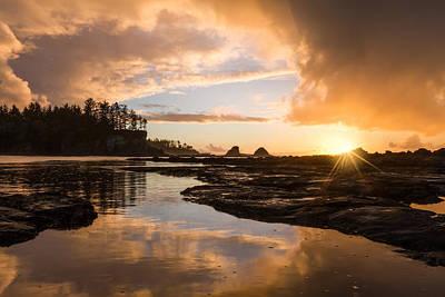 Sunset Bay Reflections Art Print by Patricia Davidson