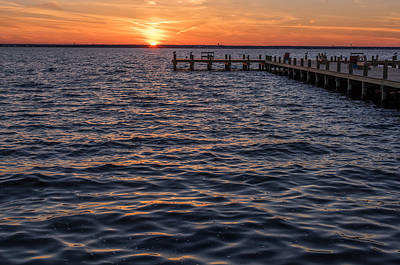 Photograph - Sunset Bay Sunset Dock Seaside Park New Jersey by Terry DeLuco
