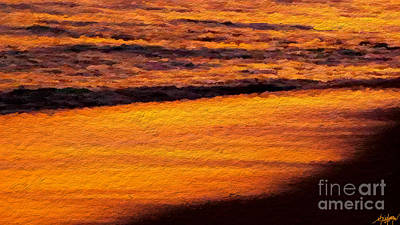Beach Sunset Mixed Media - Sunset Beach by Anthony Fishburne