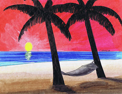 Beach Landscape Mixed Media - Sunset Beach by Chris Istenes