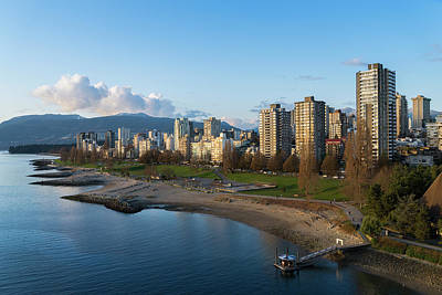 Photograph - Sunset Beach, English Bay And West End by Michael Wheatley
