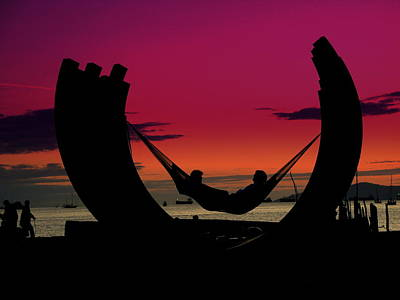 Sunset Beach Relaxation Art Print
