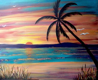 Painting - Sunset Beach by Renate Nadi Wesley