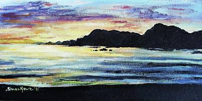 Art Print featuring the painting Sunset Beach by Shana Rowe Jackson