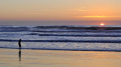Photograph - Sunset Beach Stroll  by AJ  Schibig