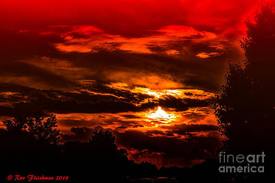 Sunset Before The Storm Art Print by Ron Fleishman