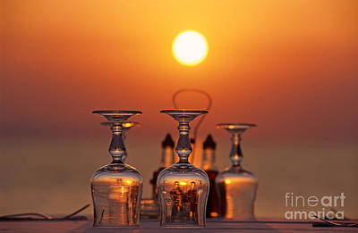Sundown Photograph - Sunset Behind A Restaurant by George Atsametakis