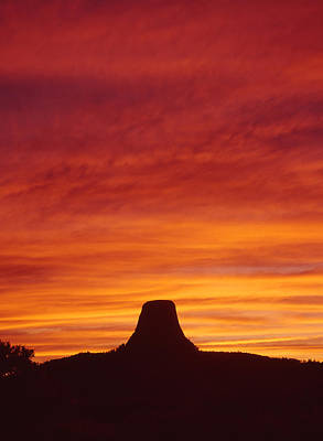 Photograph - Sunset Behind Devil's Tower - V by Ed  Cooper Photography