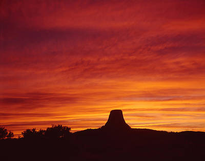 Photograph - Sunset Behind Devil's Tower by Ed  Cooper Photography