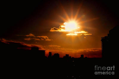 Photograph - Sunset Behind Ft. Lauderdale By Diana Sainz by Diana Raquel Sainz