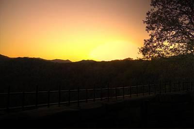 Art Print featuring the photograph Sunset Behind Hills by Jonny D