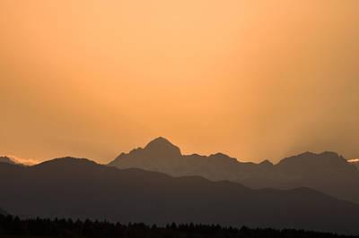 Sunset Behind The Julian Alps Art Print