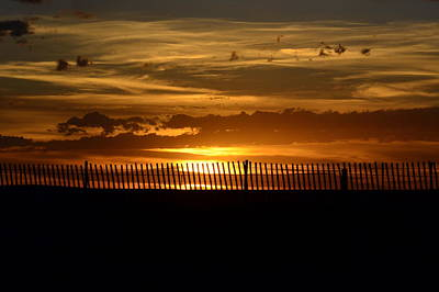 Photograph - Sunset Beyond The Fence by Clarice  Lakota
