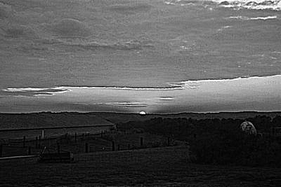 Photograph - Sunset Black And White by Beverly Hammond