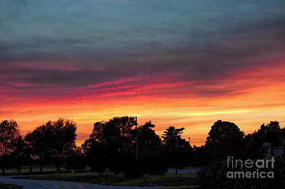 Photograph - Sunset - Blazing July Fire - Luther Fine Art by Luther Fine Art
