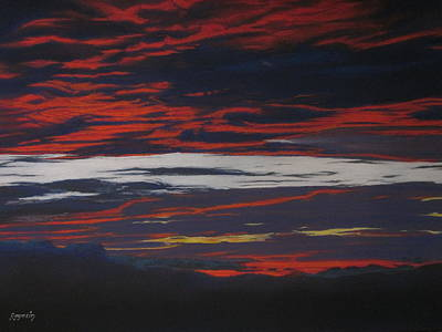 Painting - Sunset Blue by Harvey Rogosin
